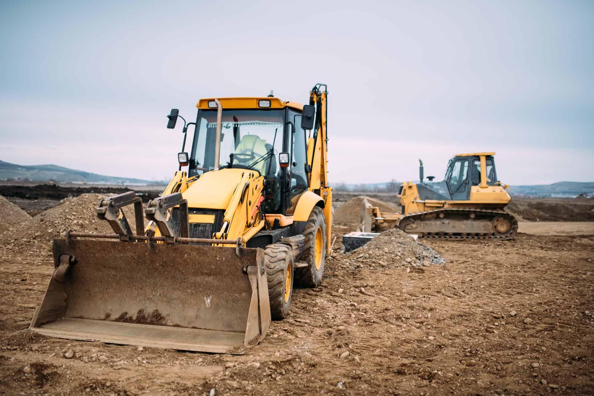 Industrial backhoe excavator loader
